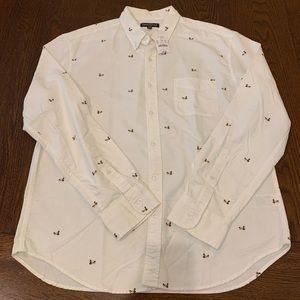 J. Crew Mercantile Duck Print Button Shirt